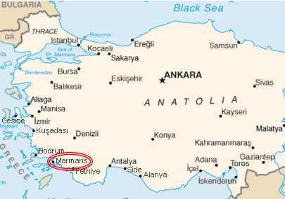 Türkische ägäis Karte.Marmaris Türkei Online Reiseführer